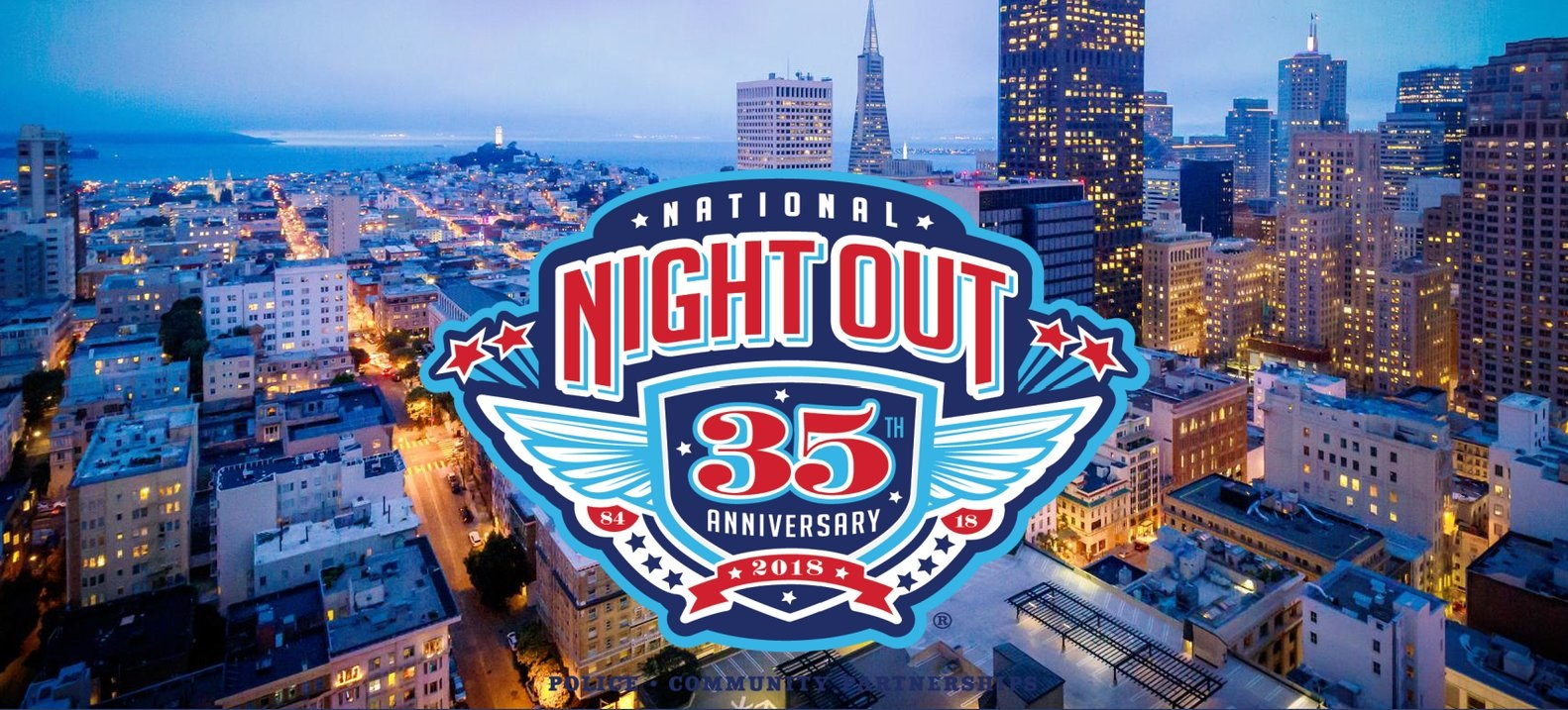 National Night Out Banner 35th
