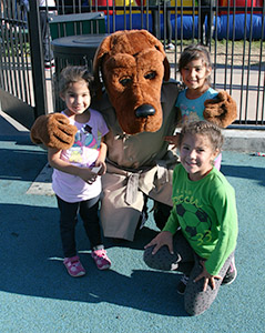 SFPD National NIght Out with McGruff and children