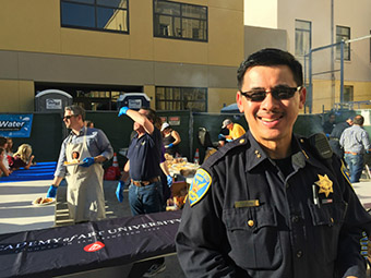 SFPD National Night Out with SFPD Officer