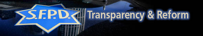 SFPD Transparency and Reform web page header image