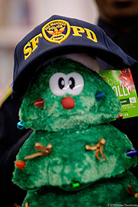 Stuffed Tree Toy with SFPD hat