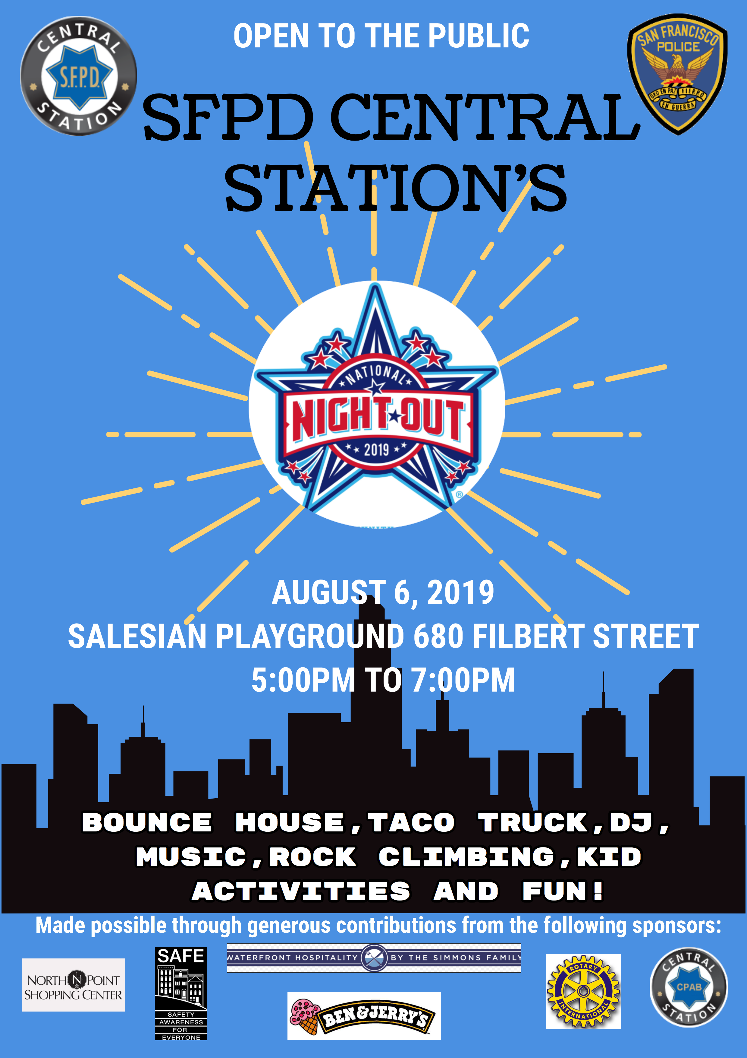 Central Station 2019 National Night Out flyer