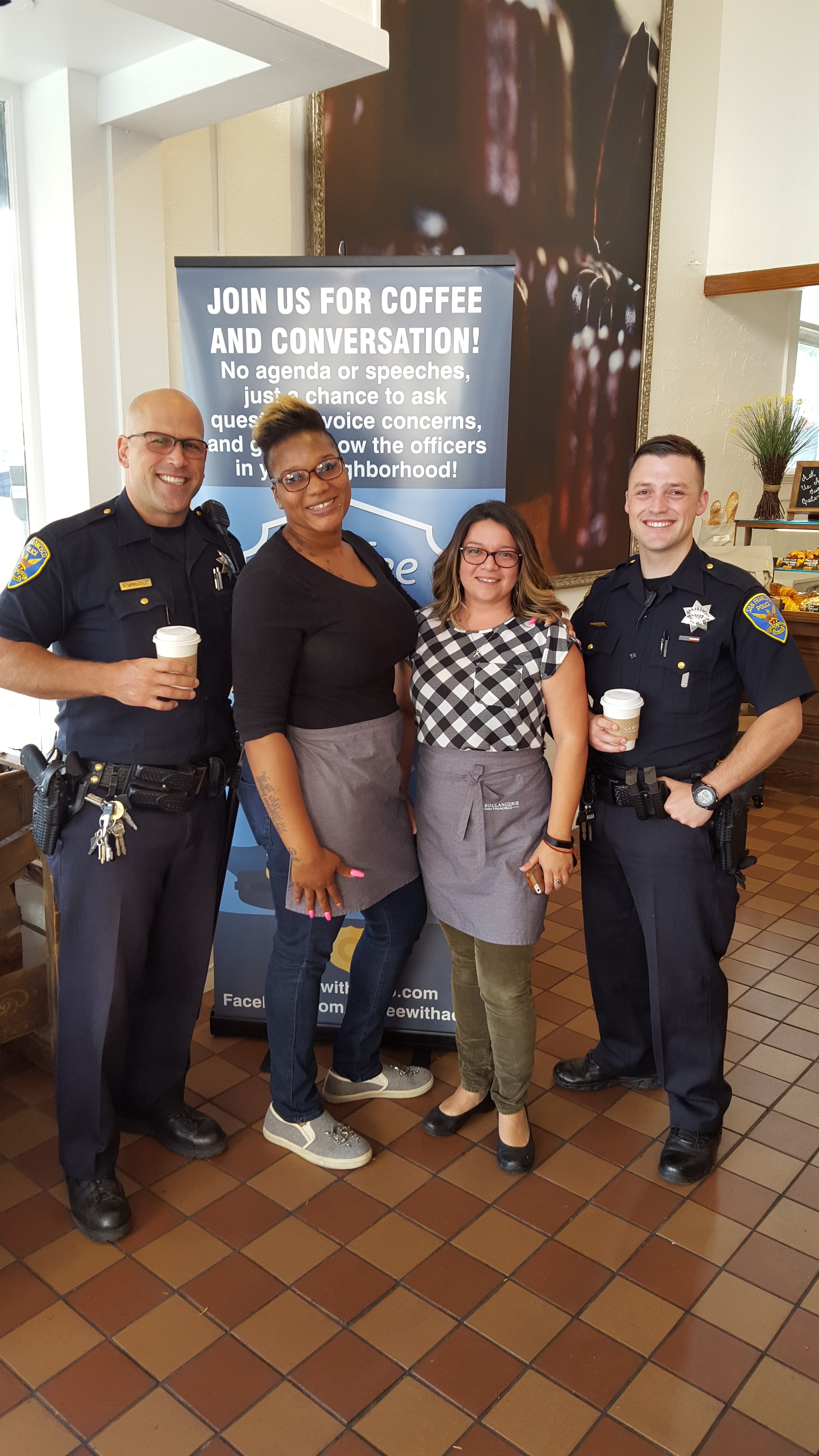 Picture from a 2016 SFPD Coffee with a Cop event