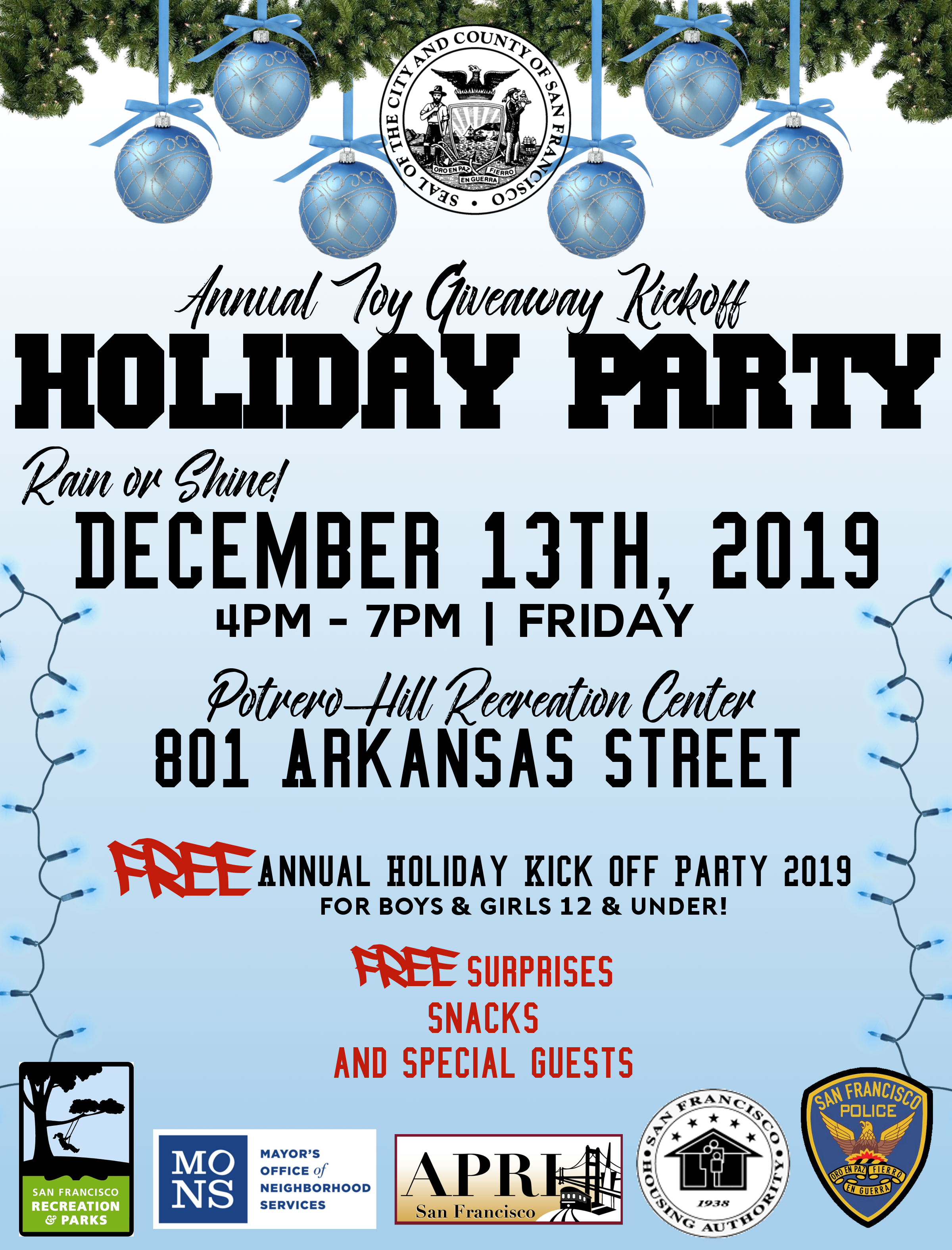 2019 Holiday Party Children Flyer