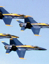 Blue Angels Airplanes flying in the sky
