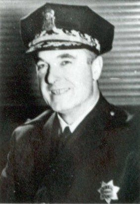 Black and white photo of former SFPD Chief Frances Ahern