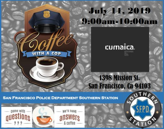 Coffee with a Cop Flyer for Southern Station