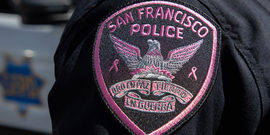 SFPD Pink Patch on Officer's Uniform