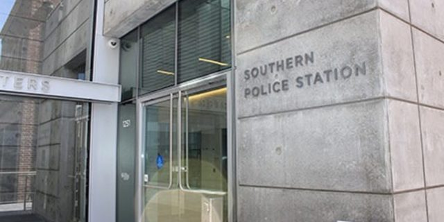 Southern Police Station Entrance at 1251 3rd Street