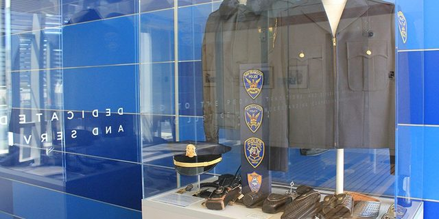 Police Headquarters Jackets, Shoulder Patches and Belt Equipment, mid-late 20th Century