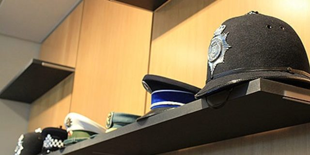 Police Headquarters Chief's Office Reception Hat Display