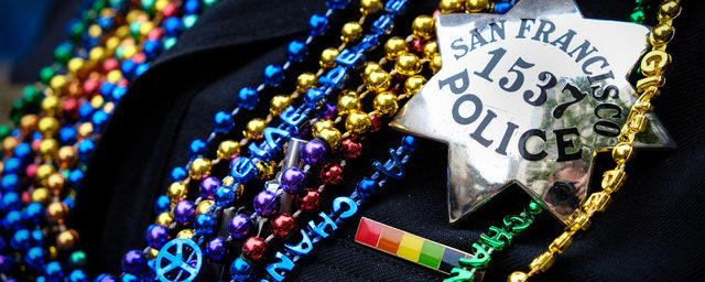 SFPD Pride Beads with Star Badge