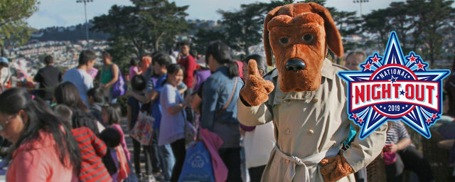 National Night Out 2019 slider image with McGruff