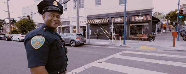 Picture of Taraval foot patrol officer