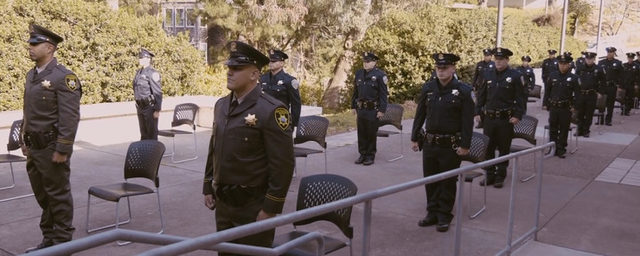 Still frame from SFPD 268th Class graduation video