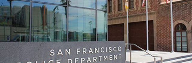 Front of Building with San Francisco Police Department Sign