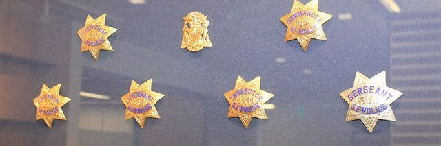 Police Headquarters Chief's Office Reception Badge Display