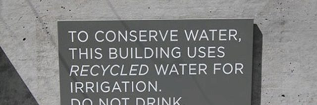 Police Headquarters Building Uses Recycled Water for Irrigation